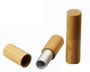 5ml Natural Bamboo Empty Lip Balm Container Tube Cosmetic Packaging Silver Golden Color Lipstick Tube Handmade DIY Beauty