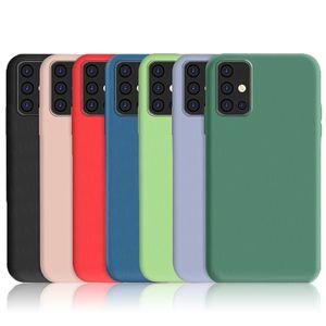 For Samsung Galaxy M31 A21 Case Cover A51 A71 M30S M21 A30S A50 A41 Liquid Silicone Soft TPU Shockproof Bumper Phone Back Case