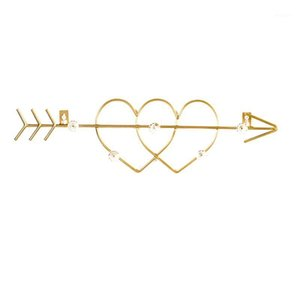 1Pc Iron Heart Hanger Hangers Wall Decorative Shaped Door Key Art For Home1 Entrance Hat Hook Wall Coat Wwwvg
