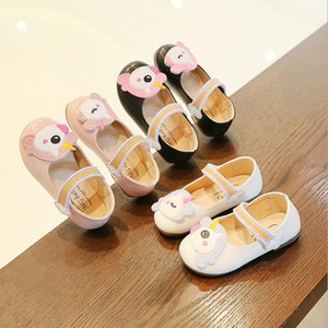 Kids Girls leather shoes Autumn children single shoes Princess leather Peas shoes for baby girls