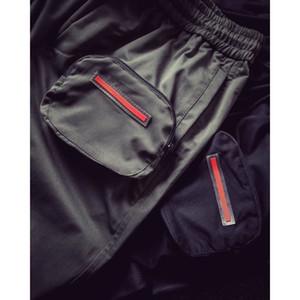 Mode Hommes Jogger garçons Hiphop Streetwear 2020FW Salopette Garçons Pantalon avec 3 poches lettres sur Casual Drawstring Sweatpants Nouvelle Arrivée