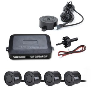 12V Car Parking Sensor Kit Reverse Backup Radar Sound Alert Indicator Probe System 4 Probe Beep Sensor Car Detector