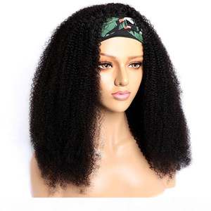 Headband Wigs Indian Afro Kinky Curly Human Hair Wig Modern Show 10-26 inch Headband Human Hair Wigs For Black Women