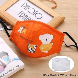 Children Breath PM2.5 Mouth Protective Carbon Breathable Filter Child Activated Mask Cartoon With Valve Kid PM2. Rlra