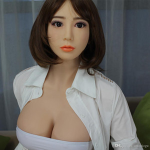 Sex japanischen 158cm Real Quality Naturgetreue Oral Sexy Pussy für Silikon-Puppen Top Adult Liebespuppen Geschlecht spielt Vagina Männer Dfwtn