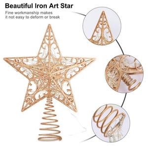 Christmas Tree Topper Christmas Tree Star Topper 3D Hollow Glitter Light Hogard
