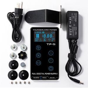Alimentazione elettrica del tatuaggio HURRICAN touch screen UPGRADE TP-5 Intelligent trucco digitale LCD a doppia Tattoo Power Supplies Set