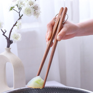 Acacia Wooden Food Clip Kitchen Anti-Scalding Barbecue Food Clip Dessert Pastry Bread Clip For Free DHL