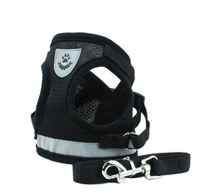 Dog Harness For Small Medium Dogs Nylon Mesh Puppy Cat Harnesses Vest Reflective Walking Lead Le bbybWz xmh_home