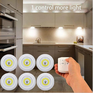 Super Bright Under Cabinet Light LED Wireless Remote Control Dimmable Wardrobe Night Lamp Home Bedroom Closet Kitchen