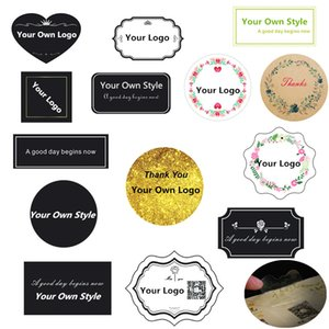 Custom Stickers Print Personalized Clear Plastic Kraft Paper Stickers Labels Wedding Christmas Waterproof Decoration 201023