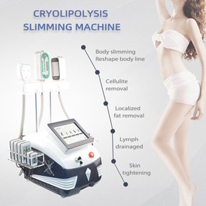 Cryolipolysis equipment cooling fat freezing machine with double chin cryo handle 360 degree 40KHz cavitation RF lipo laser slimming machine
