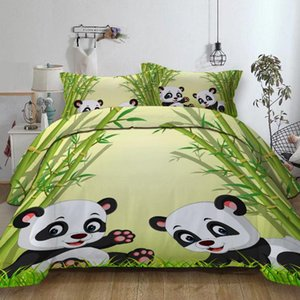 Panda animal Bedding Set with pillowcase USA Twin Full Queen King AU Single Super King Bed linen set Duvet Cover Quilt cover
