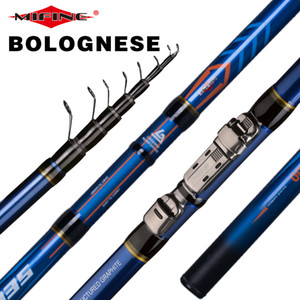 MIFINE SELEKTOR Telescopic Bolognese Fishing Rod 4 4.5 5 5.5 6M HIGH CARBON Trout Travel Light Spinning Float Fishing 10-25G 201022