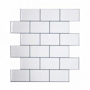 Vividtiles más gruesa blanca metro Azulejos despegar y pegar azulejos de la pared palo en Entrepaños de cocina para el parachoques 1 Hoja Xzsk #
