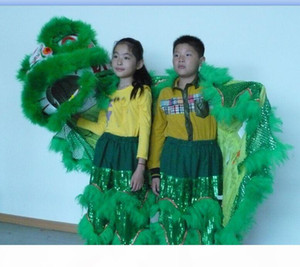 Toys Art kid Lion Dance perform mascot Costume Theater outdoor Christmas days Parade wool Southern theater music cinema chinese costume