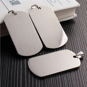 Stainless steel Army Dog Tags Mirror surface blank and laser engravable thickness 1.8mm pendants