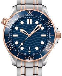 Розовое золотое резиновое ремень мужчины мода дамы дам леди женщины дизайнер мужские алмазные механические автоматические наручные часы