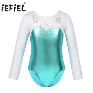 IEFIEL Bambini ragazze Tutu Dancewear Shiny Strass Snowflake Metallic Bodice Ballet Dance Turnpakje Gymnastics Leotard Costumes1
