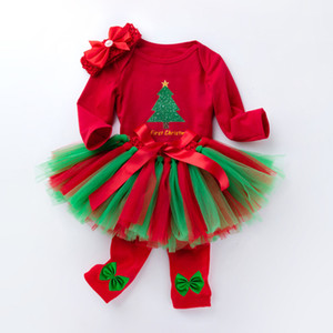 kids  clothes new style baby long sleeve cartoon Romper handmade skirt with socks and four pieces of children's wear