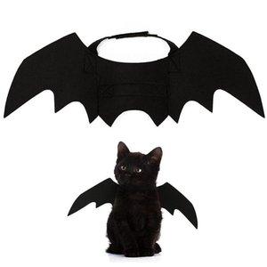 لطيف هالوين القط زي الصغيرة القطة الأليفة أجنحة الخفافيش هالوين مستلزمات الحيوانات الأليفة هالوين زينة الأسود أجنحة الخفافيش