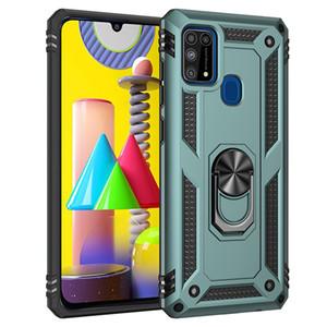 Pour Samsung Galaxy S20 FE M51 M01 M31 M30 A21S A51 A71 A11 5G M11 A40 A50 A70 armure hybride avec étui dur PC Support Ring Couverture
