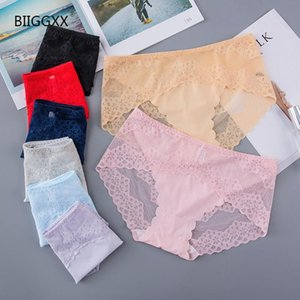 BIIGGXX [90-135 kg] Ropa interior sin costuras de hilo de hielo de encaje sexy para mujeres