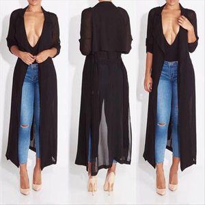 New Fashion womens Hoodies Women Chiffon Long Sleeve Evening Party Oversized Maxi Tops Drop Shipping Good Quality