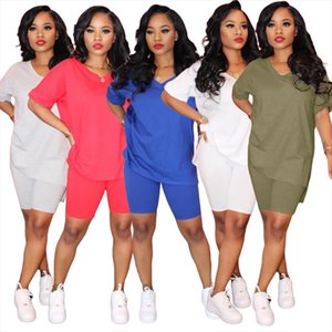Casual Outfits Two Piece Set Summer Clothes for Women Tracksuit Plus Size Top Biker Shorts Sweat Suits Matching Sets