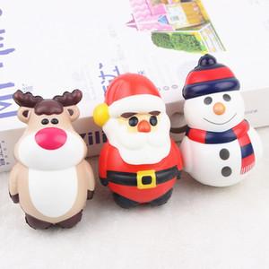 Мягкие игрушки для детей Кукла рождественские украшения Squishy PU Моделирование Vent Санта-Клаус Dolls Slow Rebound Лоси Снеговики давления мяча Compact 4MC F2
