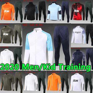 20 21 manchester hommes Survêtement enfants Pogba Lukaku Rashford pied sportswear veste de football du jogging 20 21 Soccer City Survêtement uniforme
