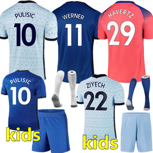 Таиланд 20 21 Abraham Werner Havertz Chilwell Ziyech футбол футбол 2020 2021 футболка Pulisic футбол Kante Mount Kids наборы наборов