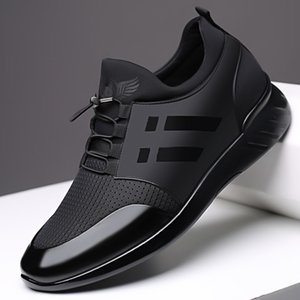 XPAY Men's Sneakers Quality 6CM Increasing British Shoes New Breathable Summer Casual Sneakers Big Size Office Shoes Men 201008