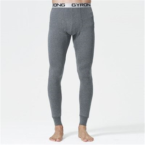 new Autumn and winter Men long johns 100% cotton thermal underwear pants 6 colors 201007