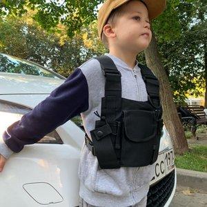 Дети Chest Rig сумка Дети Streetwear Hip Hop Street Dance Разгрузка Мода Регулируемые Карманы Жилет для мальчика девочек C1026