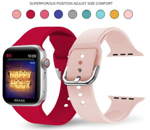 Soft Wristbands Silicone Bands for Apple Watch Strap 38mm 40mm 42mm 44mm