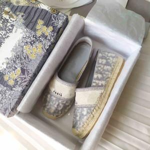 New Luxury Obliques Designer Womens Granville Espadrilles Mode Slipper Plattform Womens Rosa Mutabilis Fisherman Schuhe Schießer Rutsche