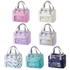 Caixa de saco de almoço isolada térmica oxford impermeável sacos de piquenique cooler caso l9cf