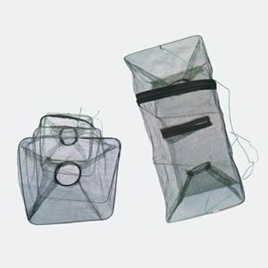 Pesca pieghevole trappola cast tieni la rete netta gabbia di pesce gamberetti aragosta di aragosta netta da pesca
