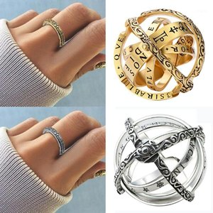 Creative Astronomical Ball Ring Complex Rotating Clamshell Astronomical Ring Anello universo Studente Constellation Jewelry 7/8/91