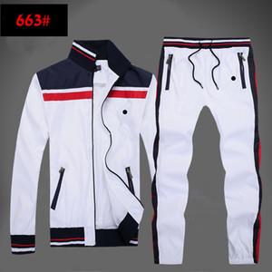 Primavera-outono homens full full tracksuit homens esporte terno branco homens barato homens com moletom e calça moletom com capuz e calça ajustaram homens