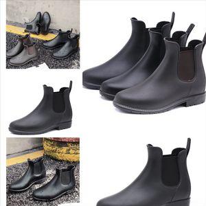 Uvhoq hotsale chaussures chaussures de pluie bottes de pluie bas super-héros chaussures d'acier toe capuchon adulte noir jaune jaune no-marque rose rouge violet violet sombre