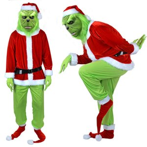 Green Hair Monster Cos Party Suit Costume Christmas Geek Grinch