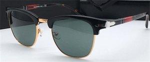 Simple Vintage Unisex Square Sunglasses Halbart Mode Outdoor Sonnenbrille Gläser UV Designer PE3105 Retro Rahmen Design Qgoqa
