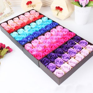 18pcs Best Gift for Girlfriend Boyfriend Souvenirs Rose Flower Soap Wedding Gifts for Guests Valentine's Day Gift Party Favors 1027
