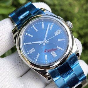 Сапфировое стекло 36мм Mens синий Мода женщин Владычица человек Автоматическое механическое движение Часы Алмазные Наручные часы 2020