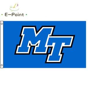 NCAA Middle Tennessee Blue Raiders Drapeau 3 * 5ft (90cm * 150cm) Polyester Drapeau Bannière Décoration Flying Home Jardin Drapeau Festive Cadeaux
