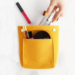Portable Multifunction Travel Cosmetic Bag Large Capacity Purse Organizer Felt Bag Handy Handbag Portable Pouch Bags Cases
