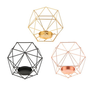 Cable de hierro industrial 3D Geometric Geométrico Tealight Vela Soporte de la boda, usos múltiples, Cesta de flores, Bonsai Pot Funda