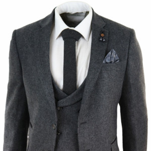 2020 Новый полушерстяные мужские серый 3 шт костюм Жилет Куртка Crusader шоры Костюм остроконечный Homme